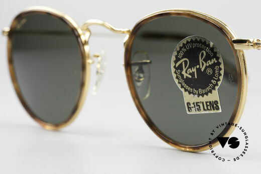 Ray Ban Round Metal 47 Small Round Shades Havana, original name: Small Round Metal W1675, G15, 47mm, Made for Men and Women