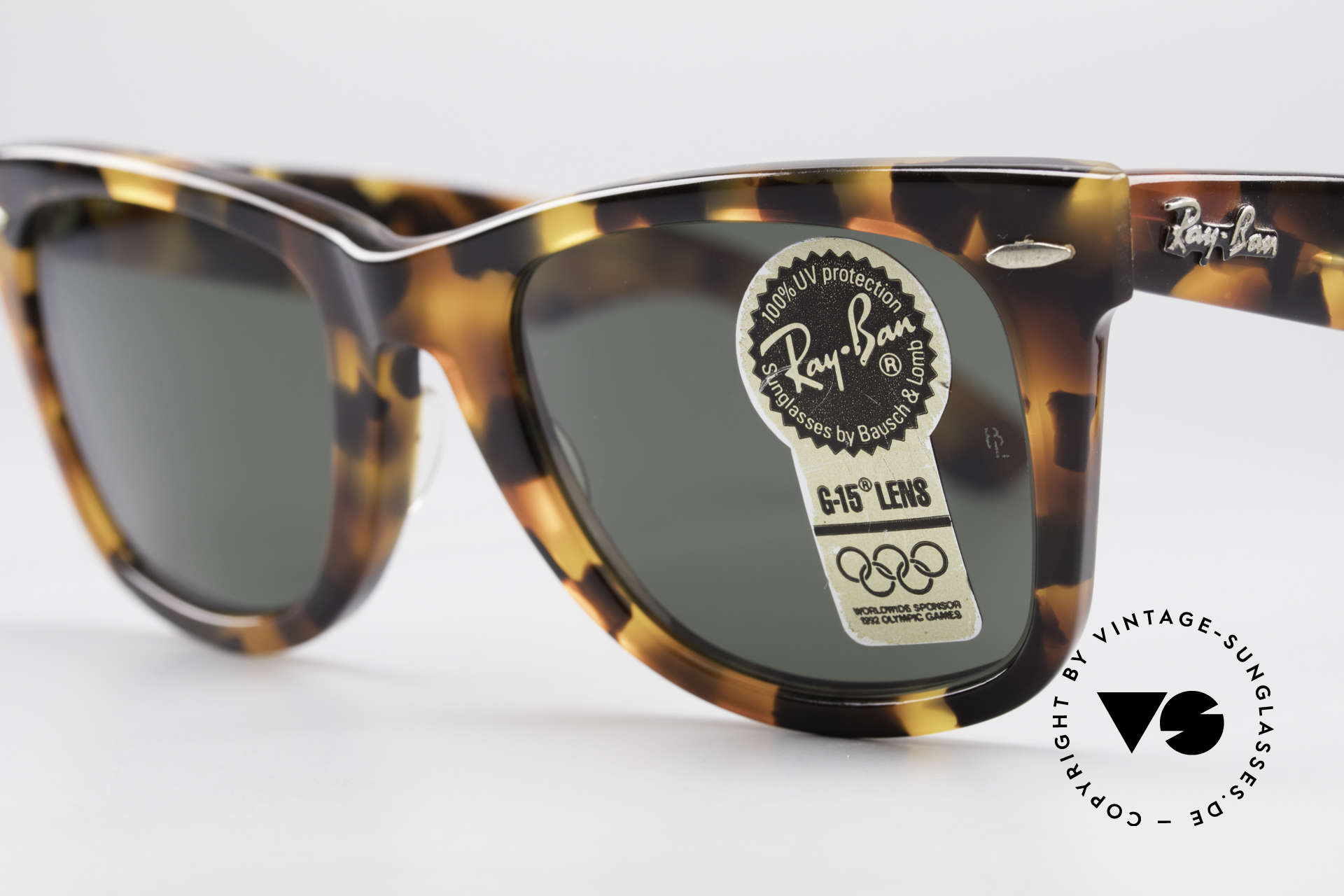 Ray Ban Wayfarer I Limited Edition USA Original, limited edition: spotted tortoise, W1441 + packing, Made for Men and Women