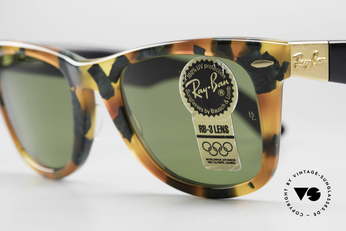 Ray Ban Wayfarer I Limited Deluxe Edition USA, limited DELUXE edition: green tortoise RB-3, W1214, Made for Men and Women