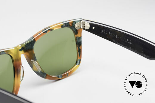 Ray Ban Wayfarer I Limited Deluxe Edition USA, NO retro Italy-Wayfarer; authentic old USA-original!, Made for Men and Women