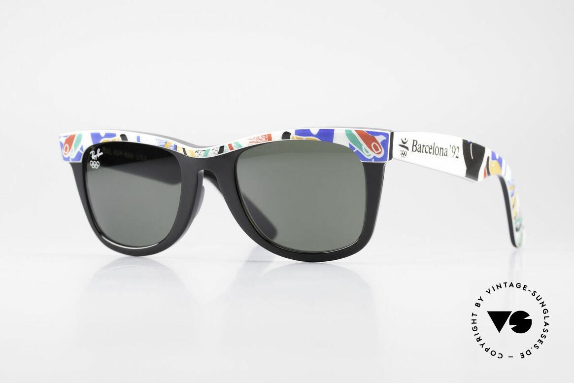 Ray Ban Wayfarer I Olympic Games Barcelona, LIMITED Bausch&Lomb vintage Wayfarer sunglasses, Made for Men and Women