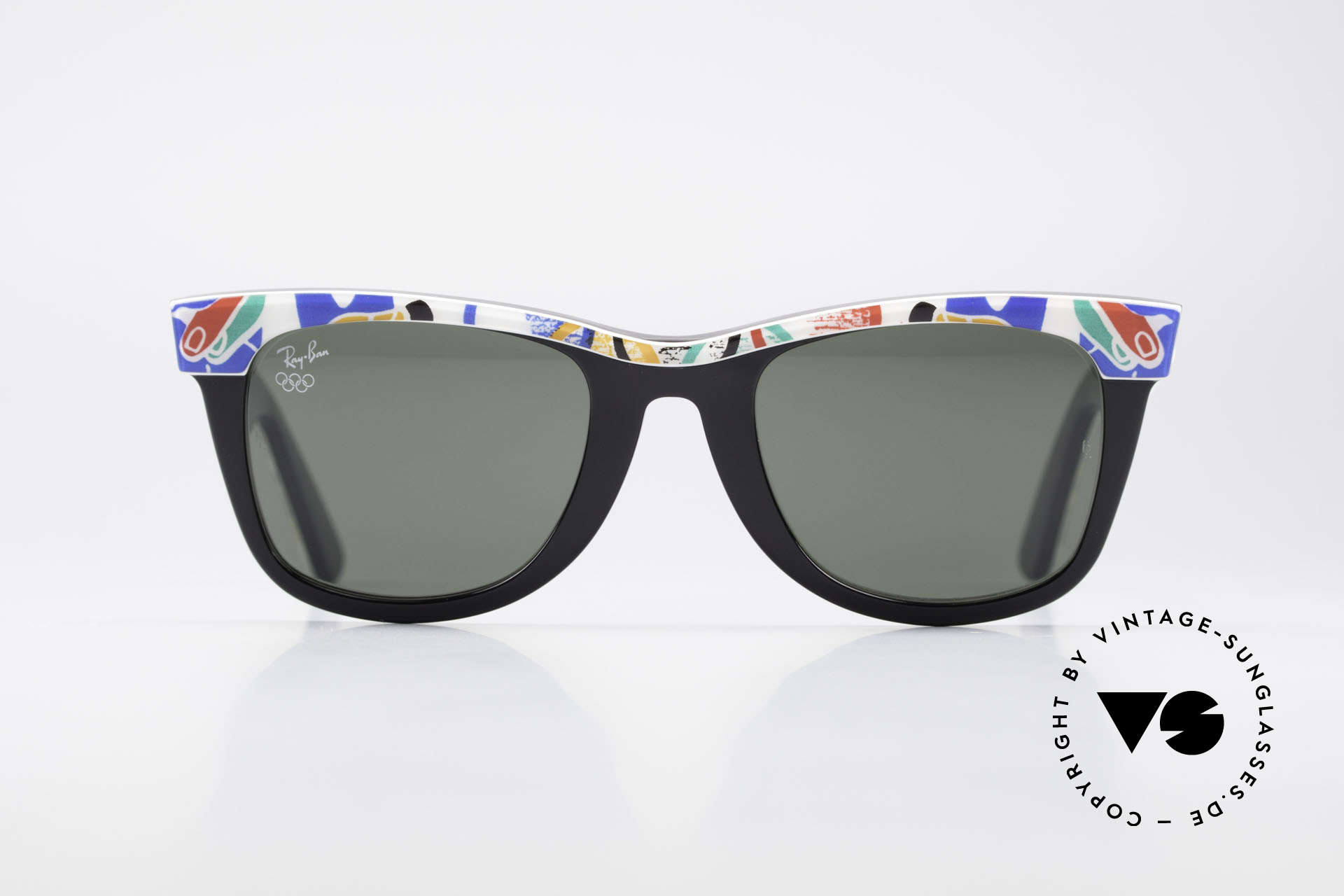 Ray Ban Wayfarer I Olympic Games Barcelona, rare Olympia Series - sports edition 'Barcelona 1992', Made for Men and Women