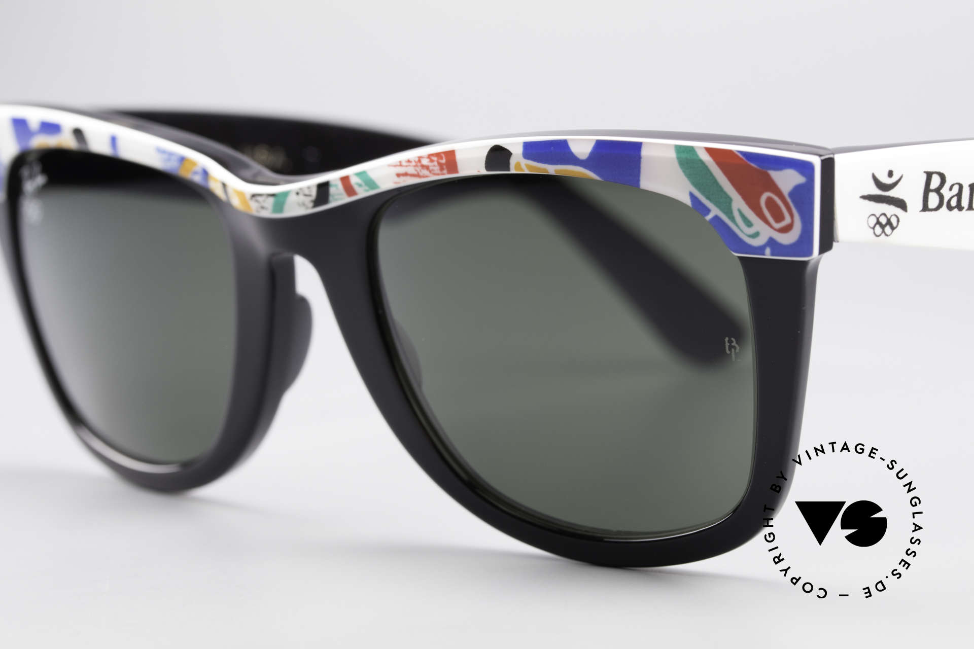 Ray Ban Wayfarer I Olympic Games Barcelona, unworn B&L rarity (a real collector's item, worldwide), Made for Men and Women