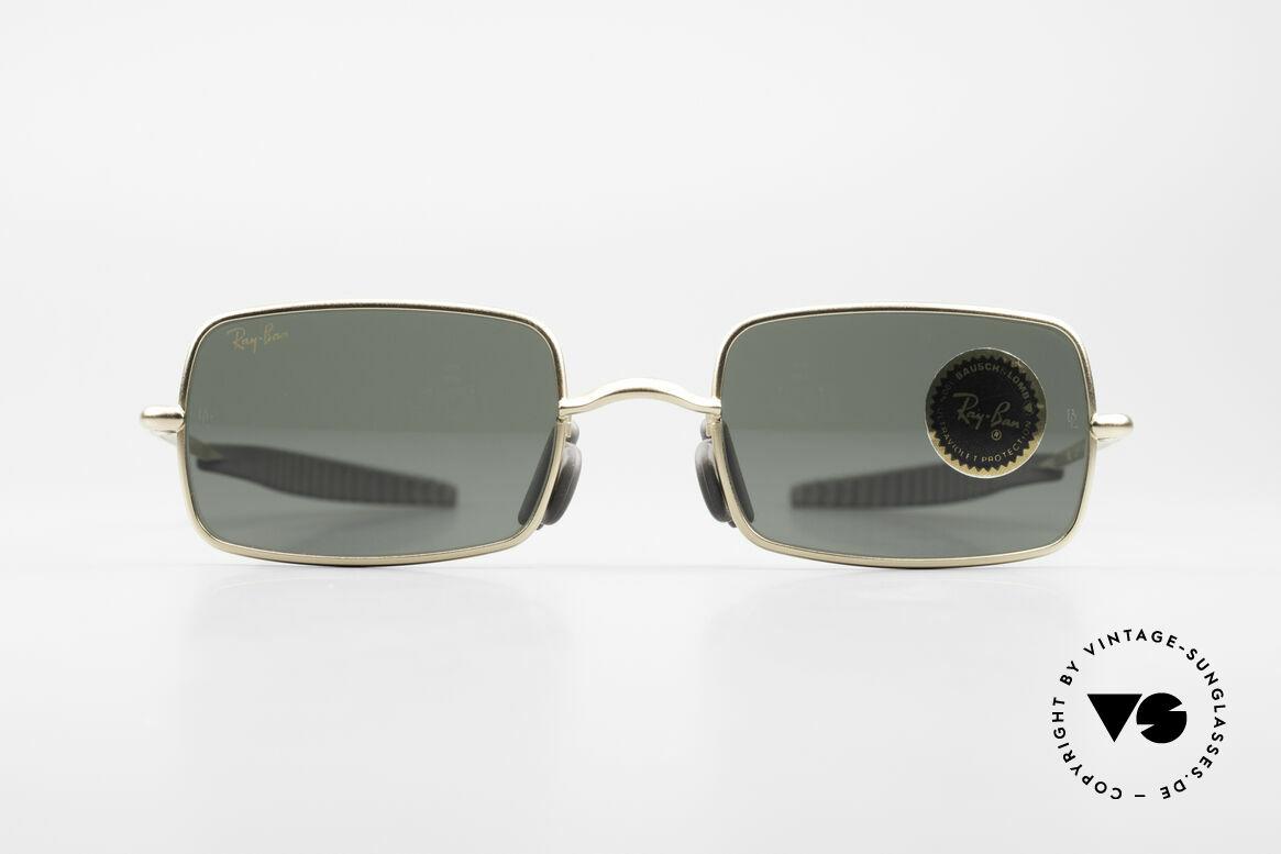 Ray Ban Orbs 6 Base Square Rare B&L USA Sports Shades, futuristic sports designer sunglasses by Ray Ban; B&L, Made for Men