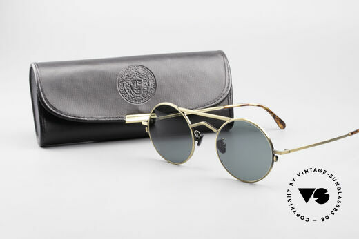 Gianni Versace 540 Small Round Designer Shades, SMALL frame 44/22 can be glazed with prescriptions, Made for Men and Women