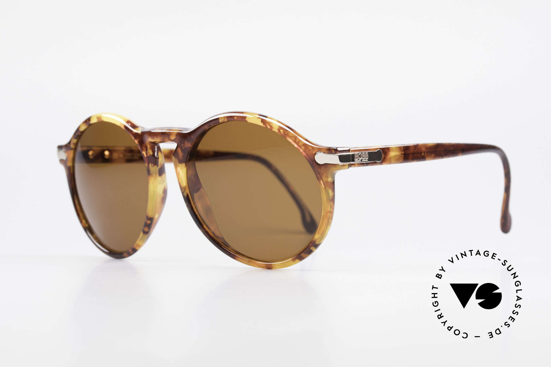 BOSS 5160 Big Panto 90's Sunglasses, big 'PANTO style' frame with interesting pattern, Made for Men
