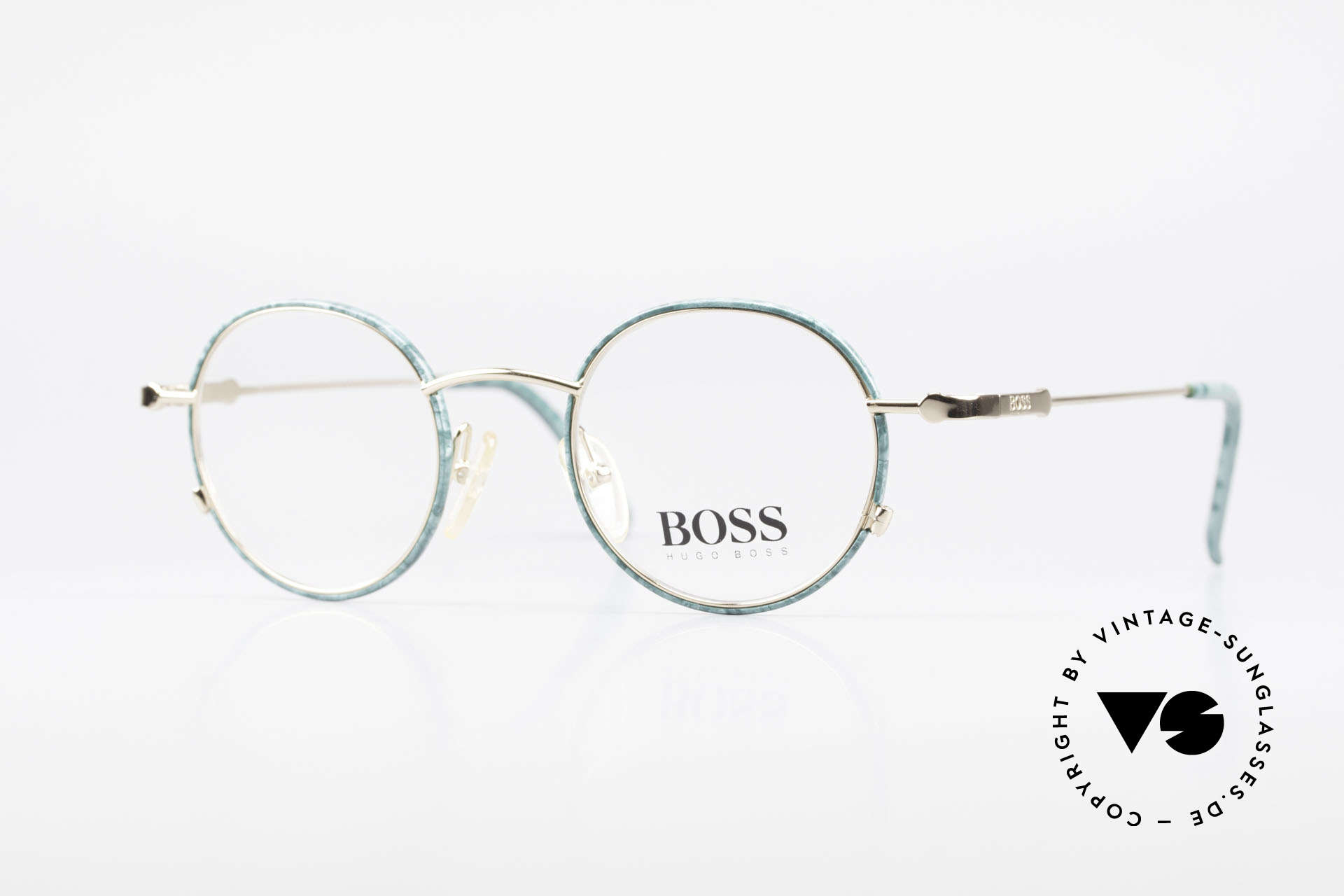 BOSS 5148 Round Panto Eyeglass Frame, round vintage 'panto design' eyeglasses by BOSS, Made for Men and Women