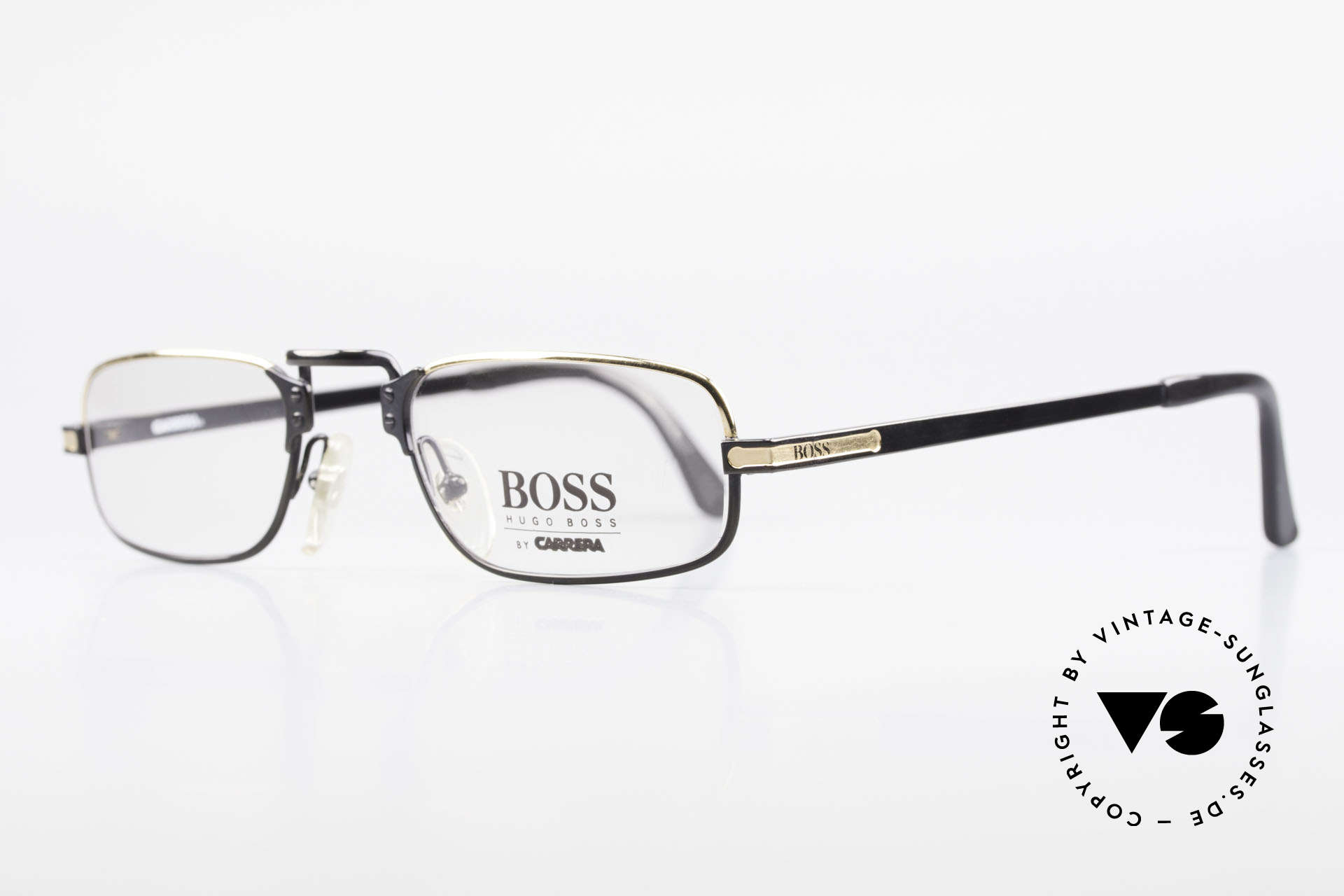 BOSS 5100 Classic Men's Reading Glasses, very dressy color combination in black and GOLD, Made for Men