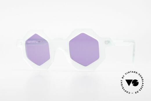 Alain Mikli 0157 / 932 Hexagonal Sunglasses 80's Details