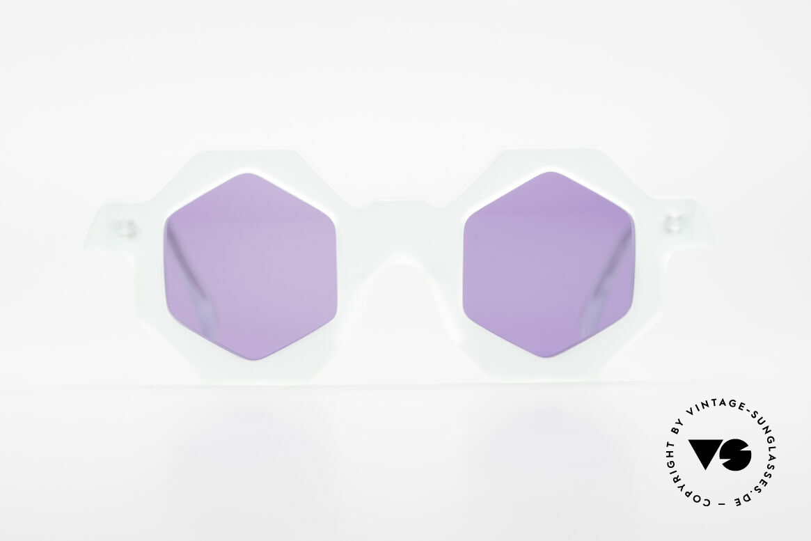 Alain Mikli 0157 / 932 Hexagonal Sunglasses 80's, hexagonal lens shape - just fancy & truly unique!, Made for Women