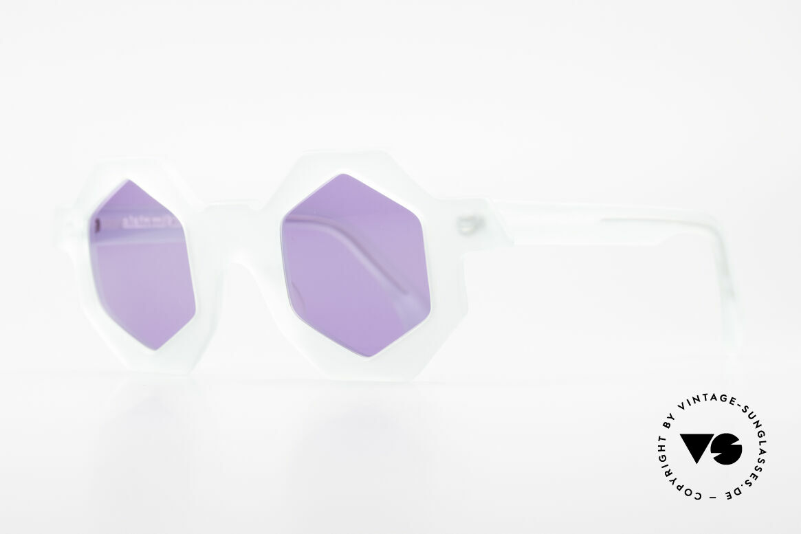Alain Mikli 0157 / 932 Hexagonal Sunglasses 80's, a design classic from the 1980's (limited edition), Made for Women