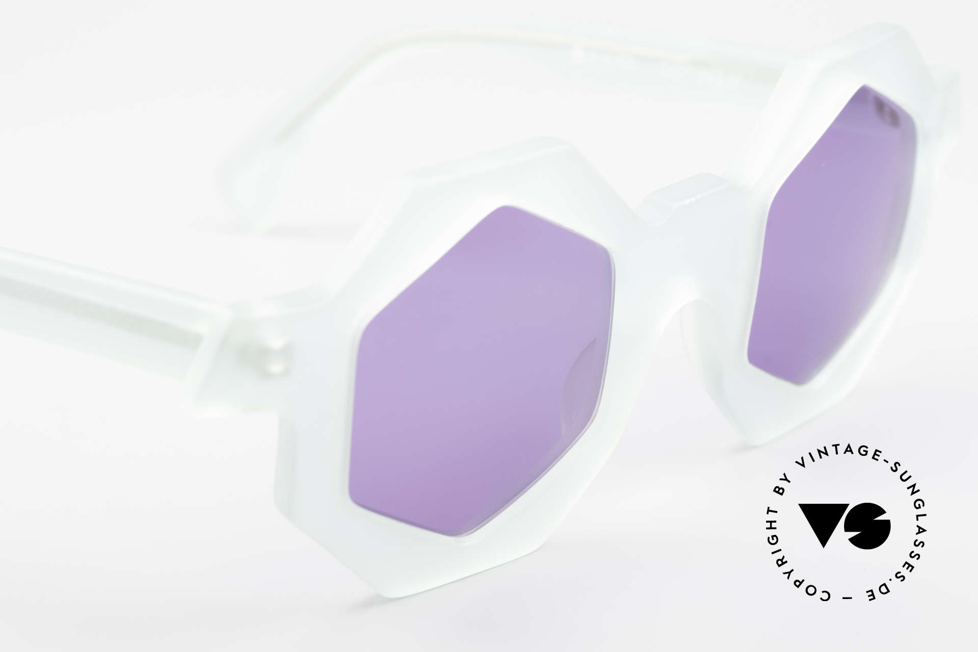 Alain Mikli 0157 / 932 Hexagonal Sunglasses 80's, never worn (like all our RARE vintage sunglasses), Made for Women