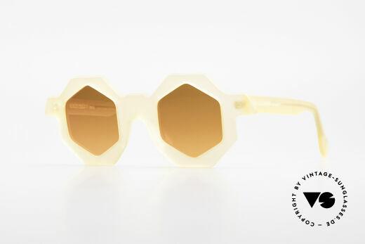 Alain Mikli 0157 / 940 Hexagonal Sunglasses 1989 Details