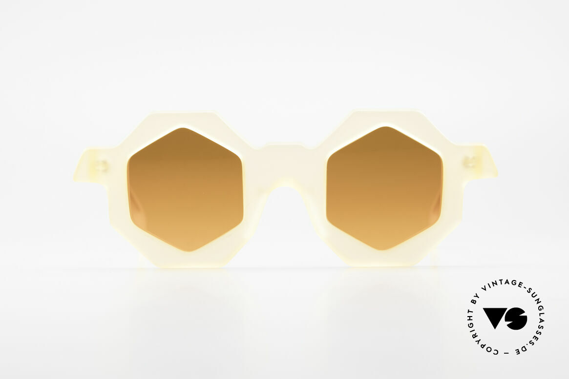 Alain Mikli 0157 / 940 Hexagonal Sunglasses 1989, multi-angular designer sunglasses by Alain Mikli, Made for Women