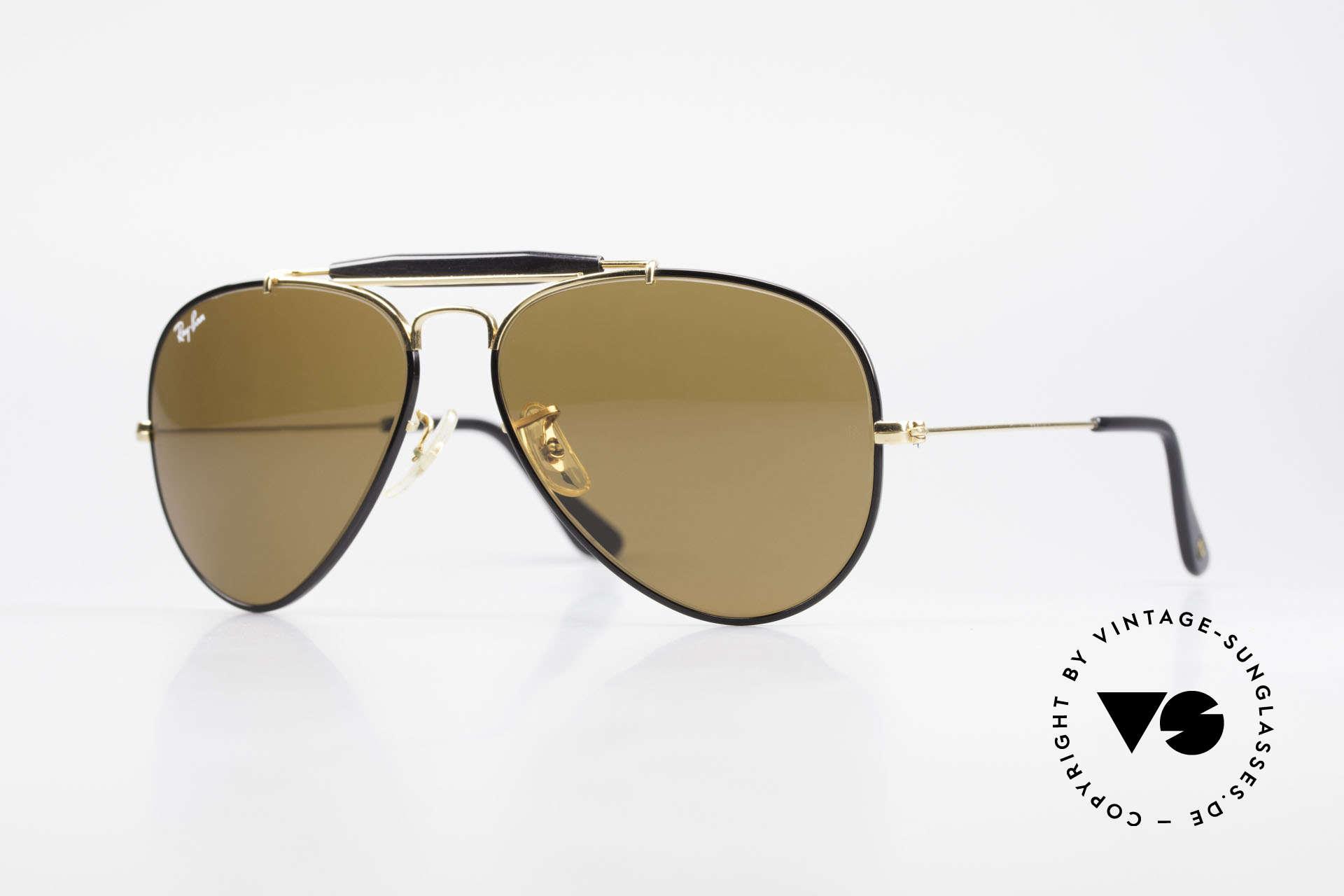Ray Ban Outdoorsman Precious Metals Ray-Ban USA, costly vintage RAY-BAN B&L aviator sunglasses, Made for Men and Women