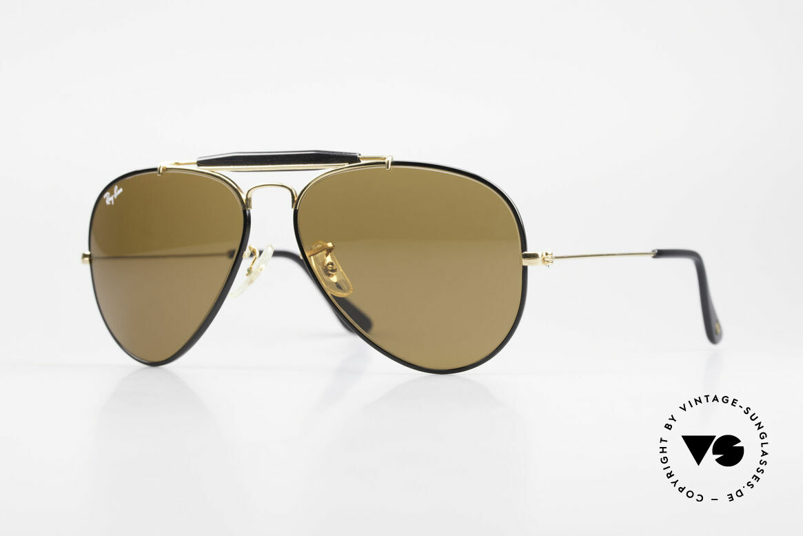 Ray Ban Outdoorsman Precious Metals Ray-Ban USA, costly vintage RAY-BAN B&L aviator sunglasses, Made for Men and Women