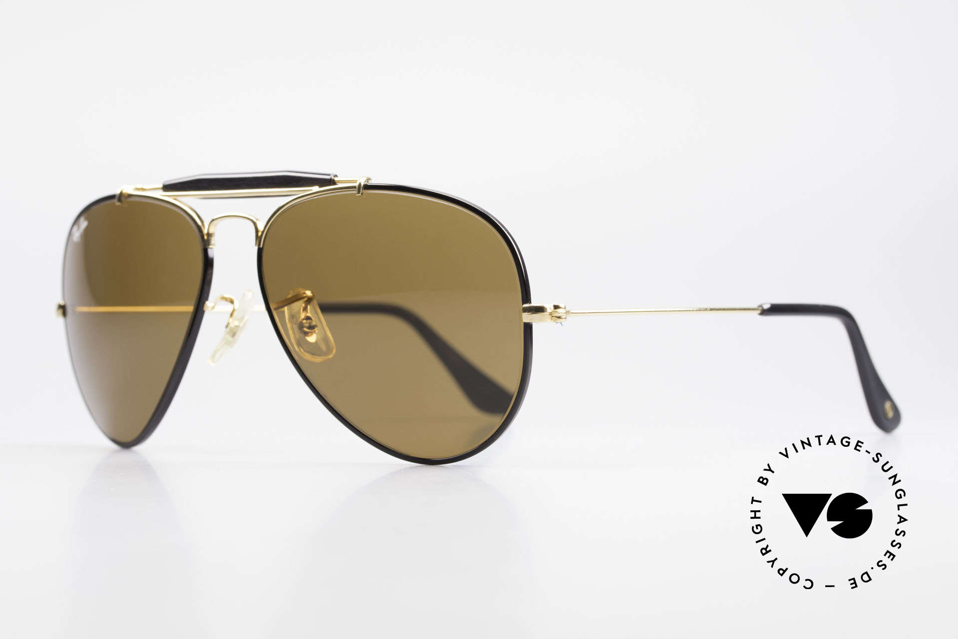 Ray Ban Outdoorsman Precious Metals Ray-Ban USA, with 24 carat GOLD-PLATED frame components, Made for Men and Women
