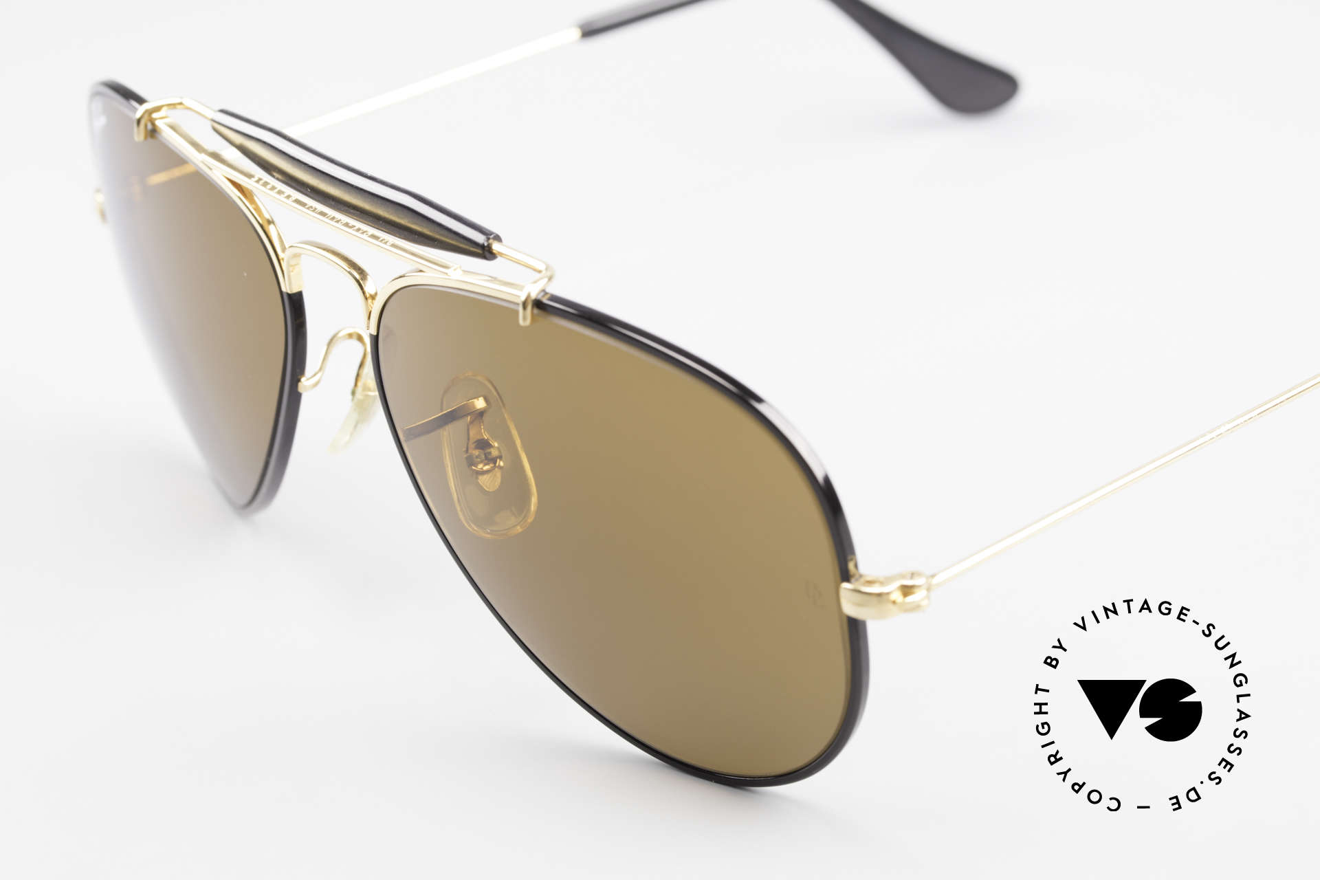Ray Ban Outdoorsman Precious Metals Ray-Ban USA, unworn NOS rarity (sought-after collector's item), Made for Men and Women