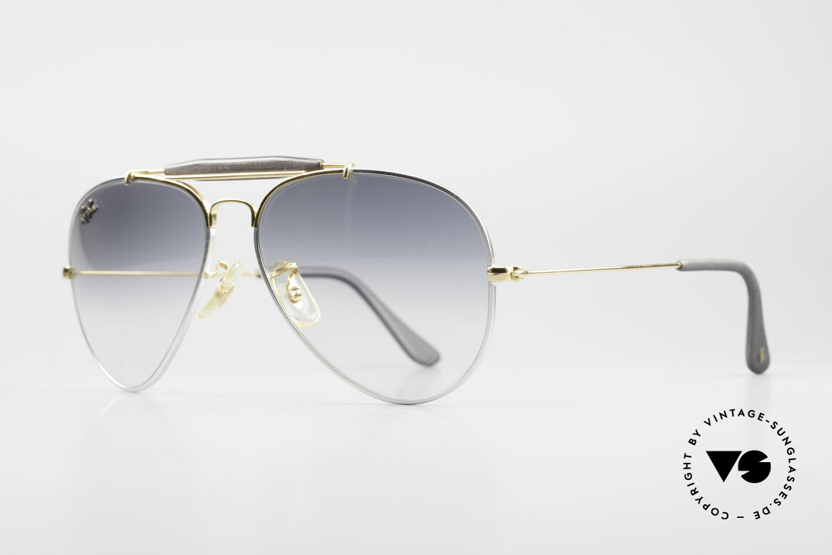 Ray Ban Outdoorsman Precious Metals Titanium, titanium frame and 24kt gold-plated components, Made for Men and Women