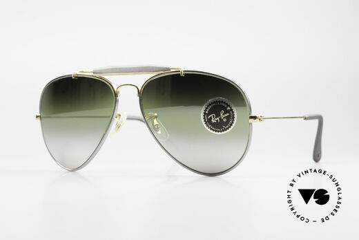 Ray Ban Outdoorsman Precious Greenish Mirrored Details