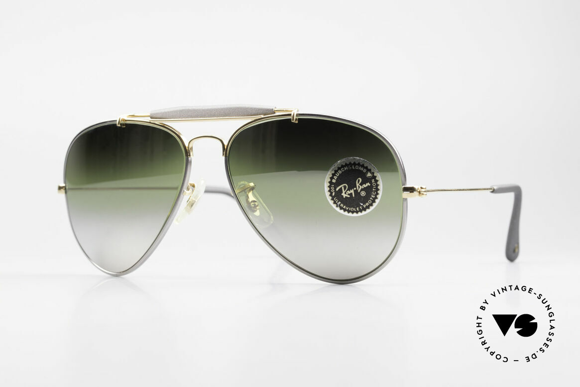 Ray Ban Outdoorsman Precious Greenish Mirrored, costly vintage RAY-BAN B&L aviator sunglasses, Made for Men and Women