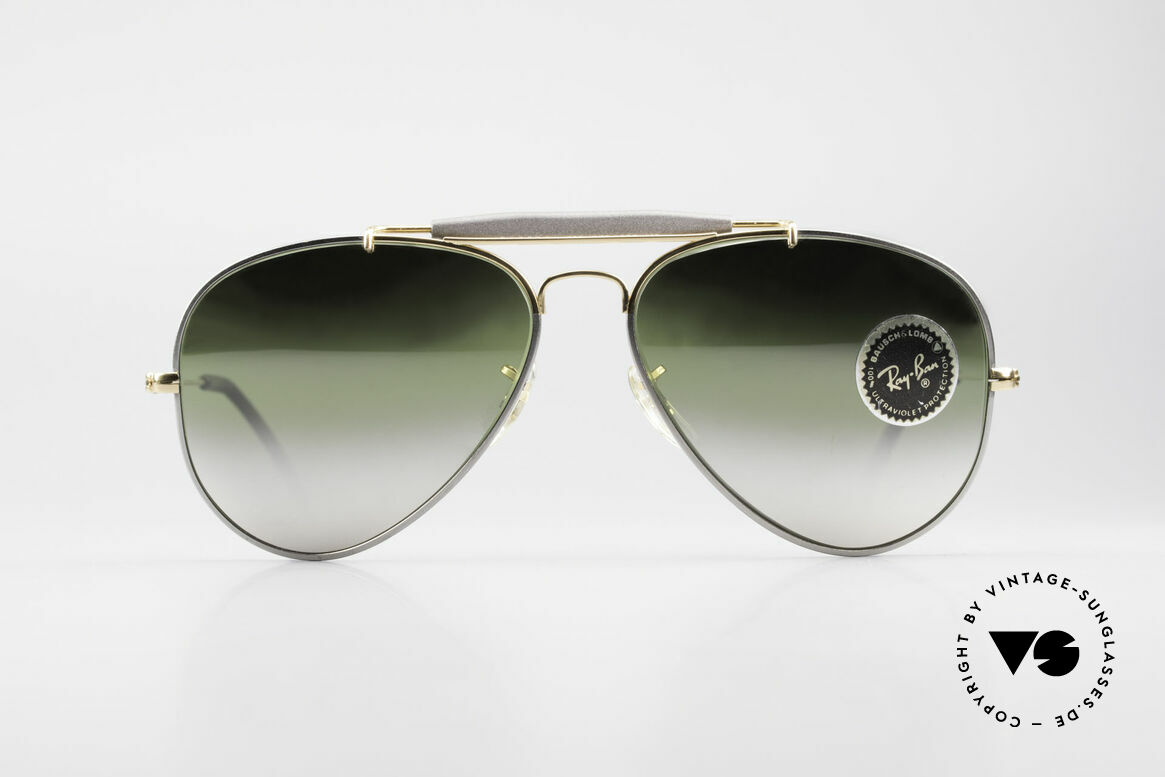 Ray Ban Outdoorsman Precious Greenish Mirrored, rare 'Precious Metals' special edition; 58mm size, Made for Men and Women