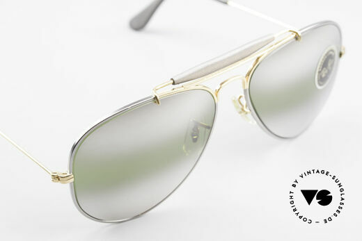 Ray Ban Outdoorsman Precious Greenish Mirrored, unworn NOS rarity (sought-after collector's item), Made for Men and Women