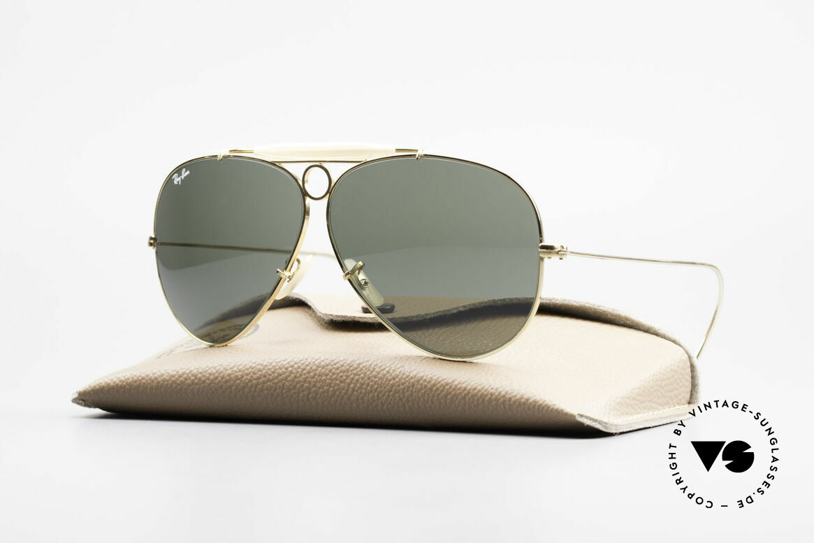 Ray Ban Shooter Sport G15 Bausch & Lomb Sun Lenses, vintage Ray-Ban aviator sunglasses of the 1980's, Made for Men