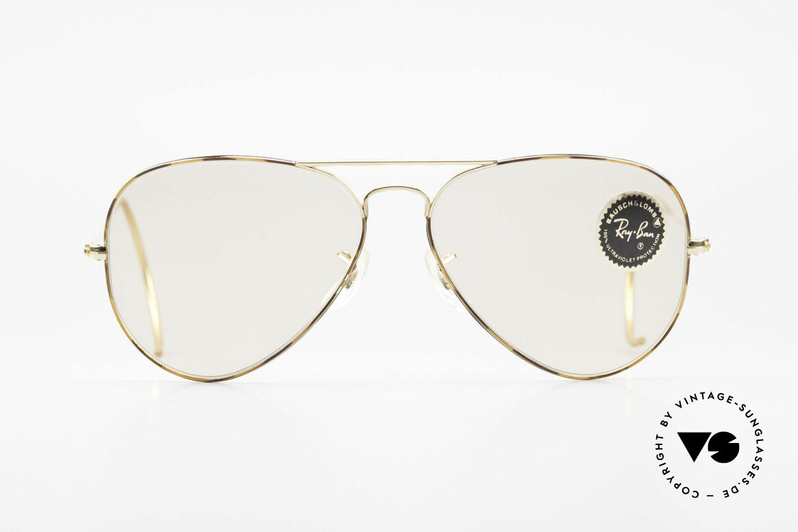 Ray Ban Large Metal Sport Tortuga Changeable Edition, classic aviator sunglasses by B&L RAY-BAN in size 58-14, Made for Men and Women