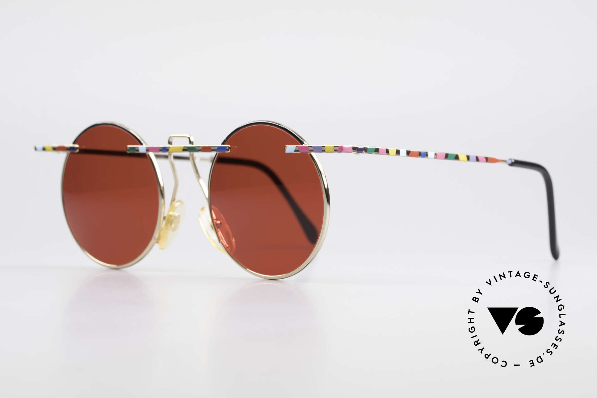 Taxi 222 by Casanova 80's Art Sunglasses 3D Red, represents the exuberance of the Venetian carnival, Made for Men and Women