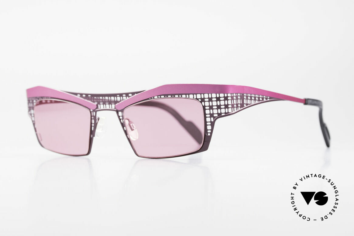 Theo Belgium Eye-Witness TA Avant-Garde Sunglasses Pink, made for the avant-garde, individualists; trend-setters, Made for Women