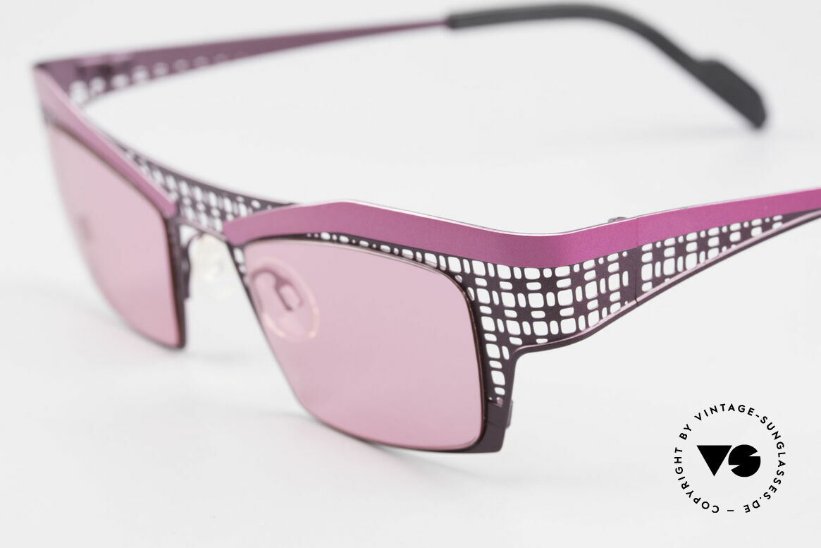 Theo Belgium Eye-Witness TA Avant-Garde Sunglasses Pink, Eye-Witness TA-Series (this pair) was launced in 2001, Made for Women