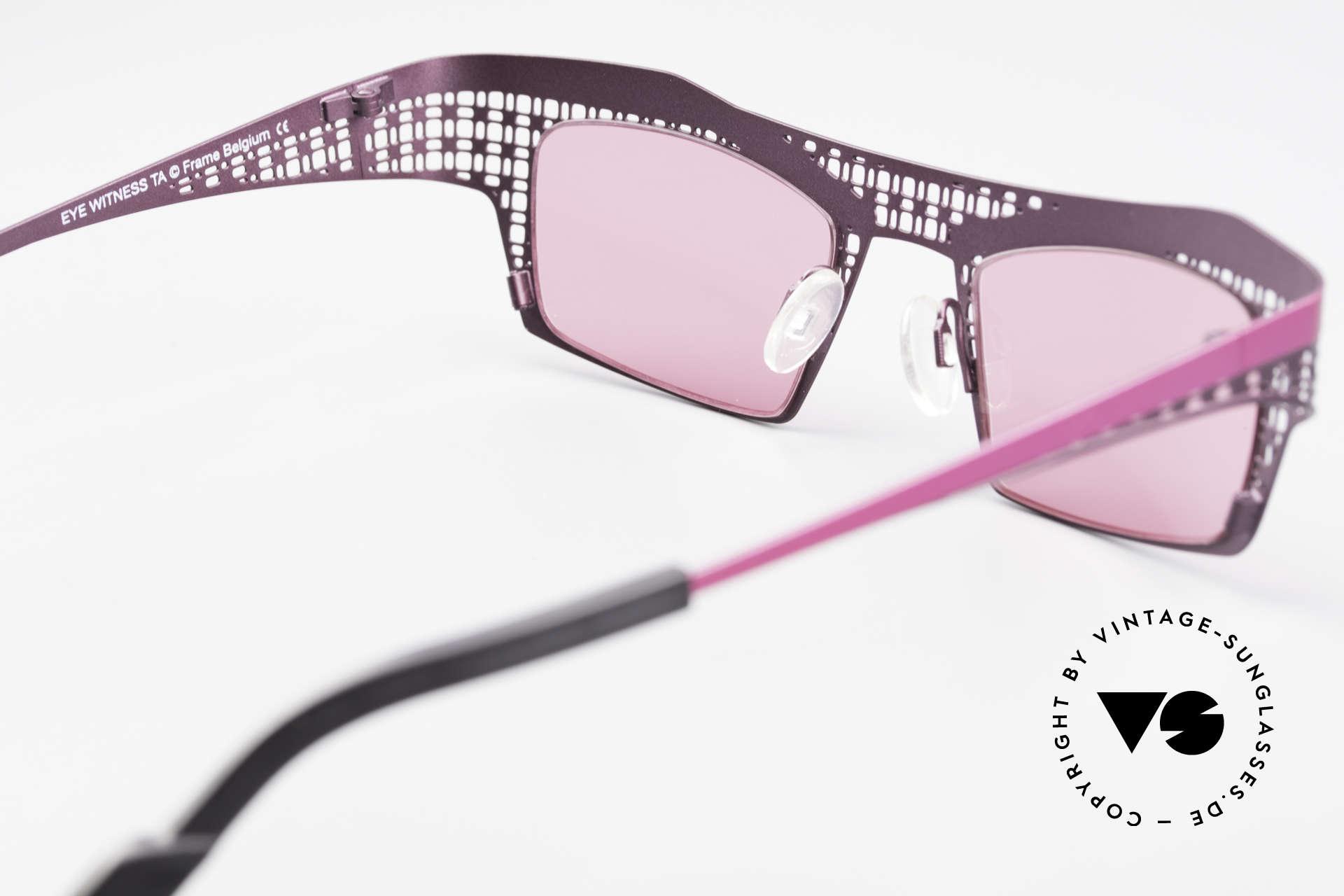 Theo Belgium Eye-Witness TA Avant-Garde Sunglasses Pink, so to speak: vintage eyeglasses with representativeness, Made for Women
