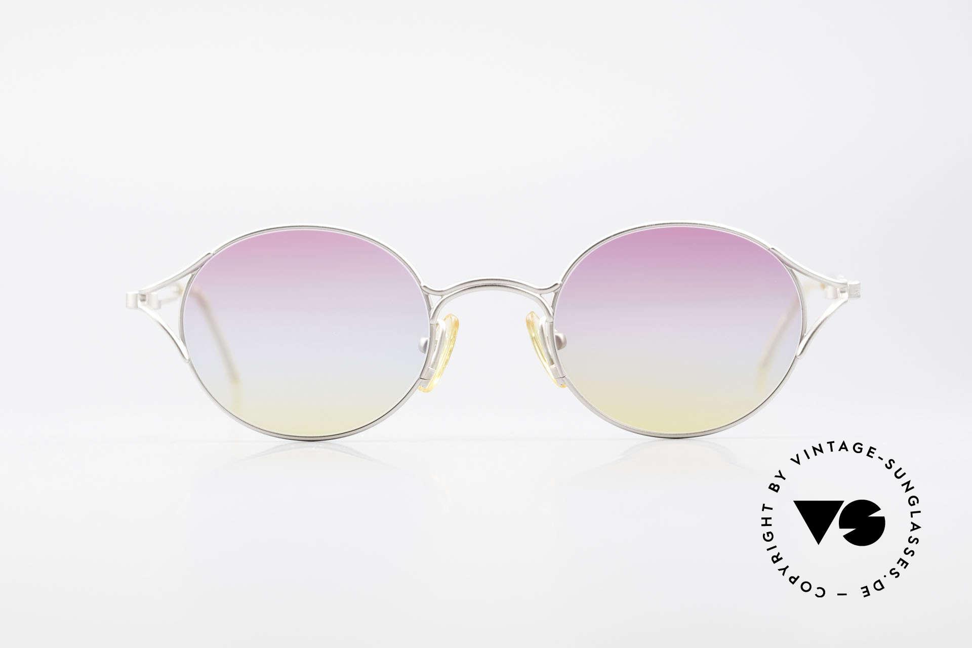 Yohji Yamamoto 51-4103 Panto Designer Sunglasses, 1st class craftsmanship and materials (lightweight titan), Made for Men and Women