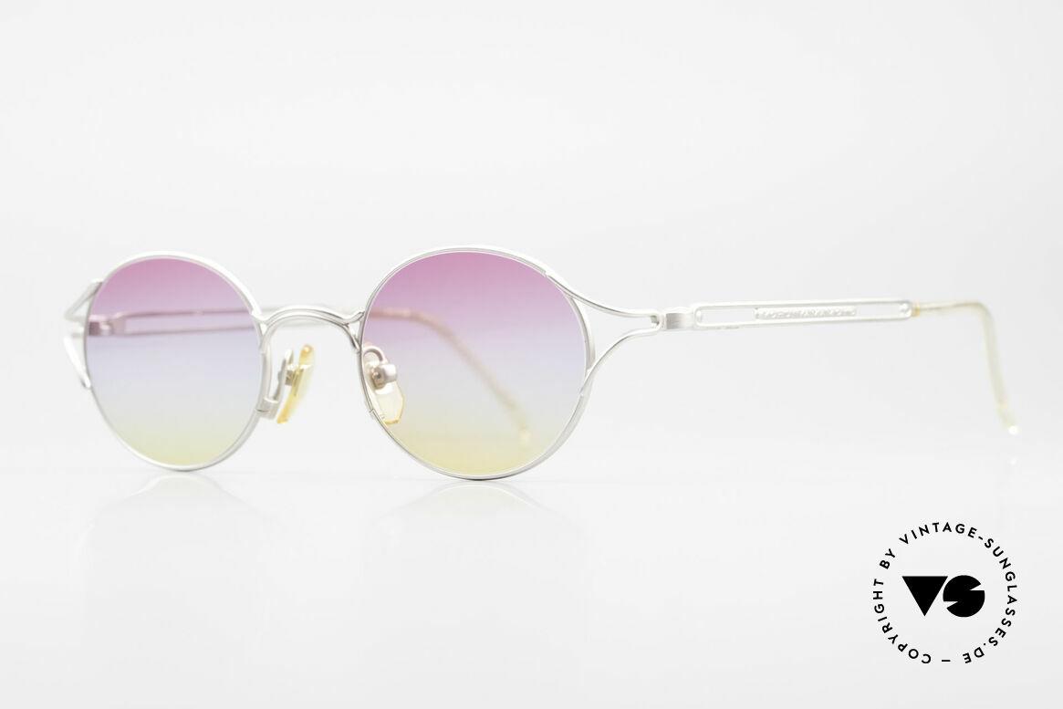Yohji Yamamoto 51-4103 Panto Designer Sunglasses, panto design & striking tricolored sun lenses (100% UV), Made for Men and Women
