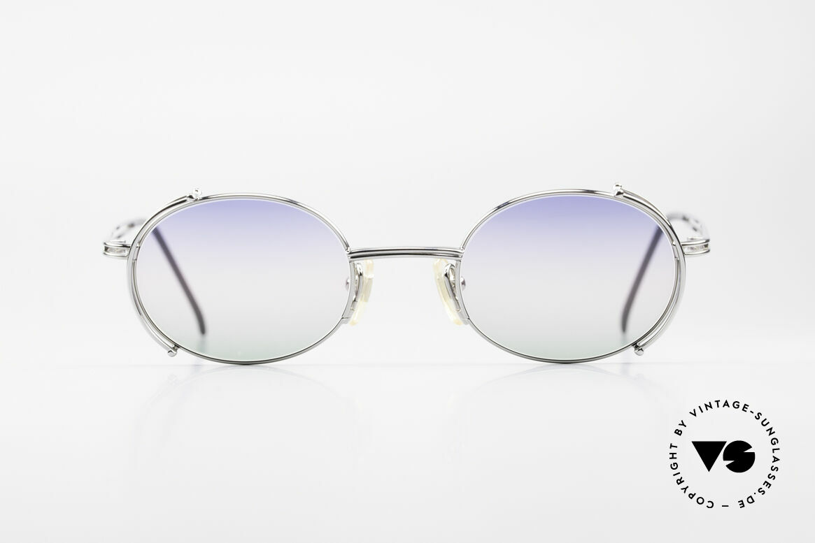 Yohji Yamamoto 52-4107 Oval Designer Sunglasses 90's, costly (monolithic) frame construction; You must feel it!, Made for Men and Women