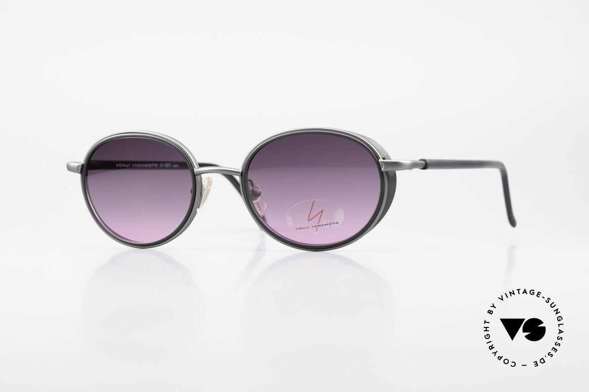 Yohji Yamamoto 51-6201 Side Shields Sunglasses 90's, extraordinary vintage Yohji Yamamoto shades of the 90s, Made for Women