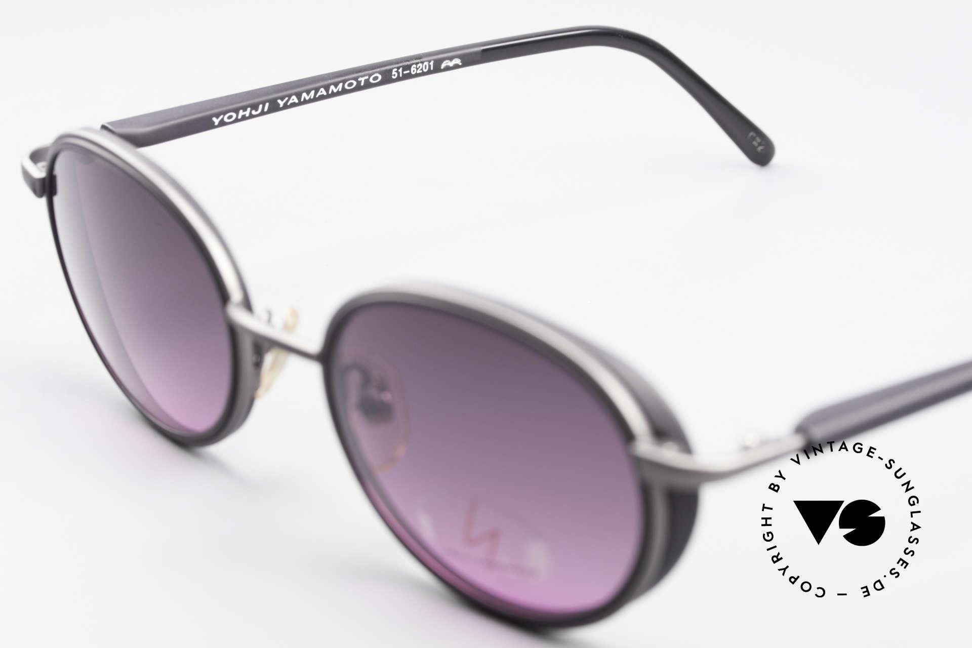 Yohji Yamamoto 51-6201 Side Shields Sunglasses 90's, NO RETRO shades, but a Yamamoto ORIGINAL from 1995, Made for Women