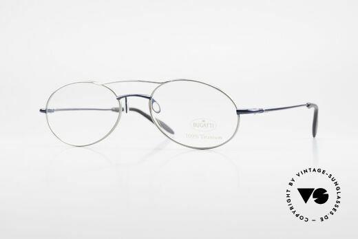 Bugatti 19239 Titanium Luxury Eyeglasses Details