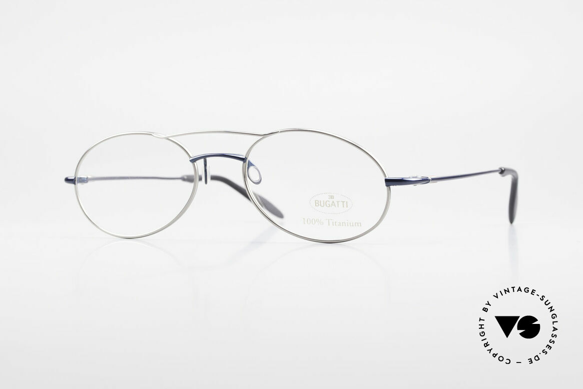 Bugatti 19239 Titanium Luxury Eyeglasses, 100% Titanium vintage BUGATTI glasses from 1998, Made for Men