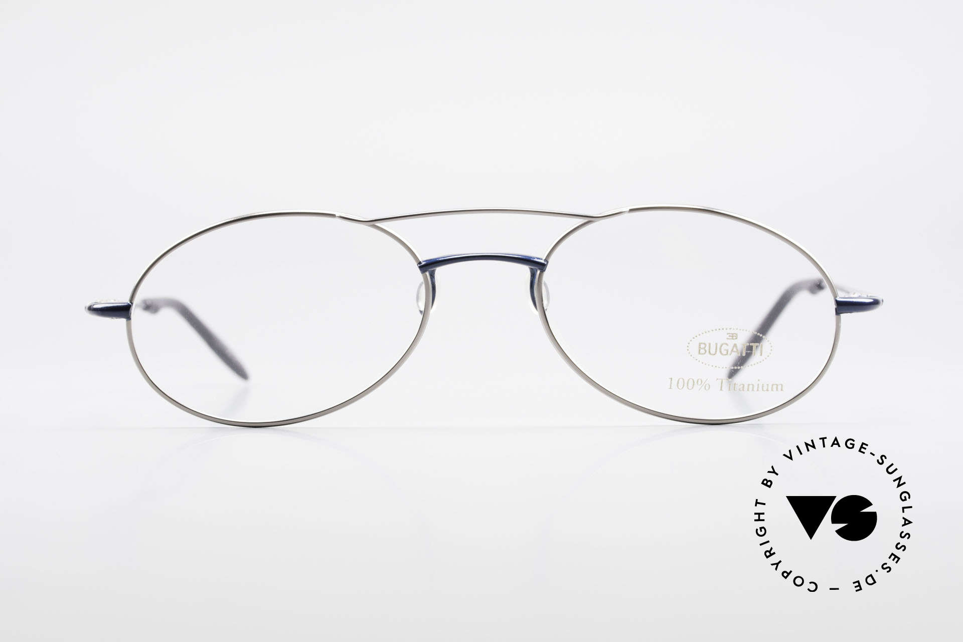 Bugatti 19239 Titanium Luxury Eyeglasses, outstanding craftsmanship (lightweight 15g frame), Made for Men
