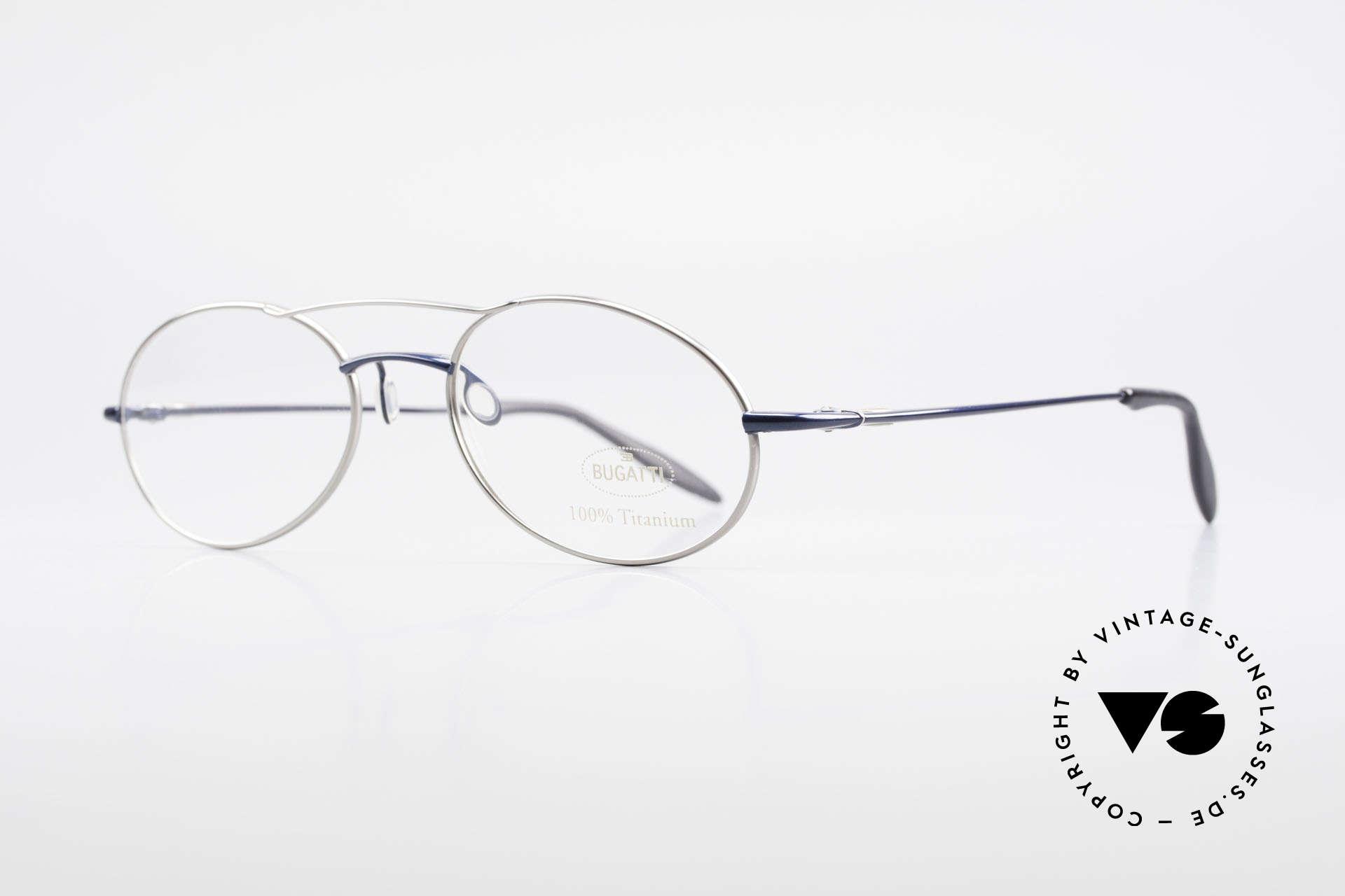Bugatti 19239 Titanium Luxury Eyeglasses, ergonomic temples & nose pad for 1st class comfort, Made for Men
