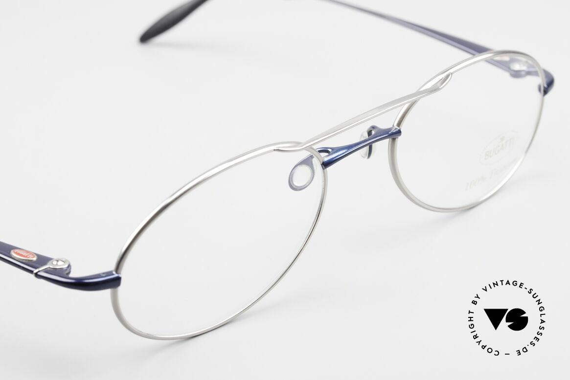 Bugatti 19239 Titanium Luxury Eyeglasses, unworn (like all our rare luxury Bugatti eyeglasses), Made for Men