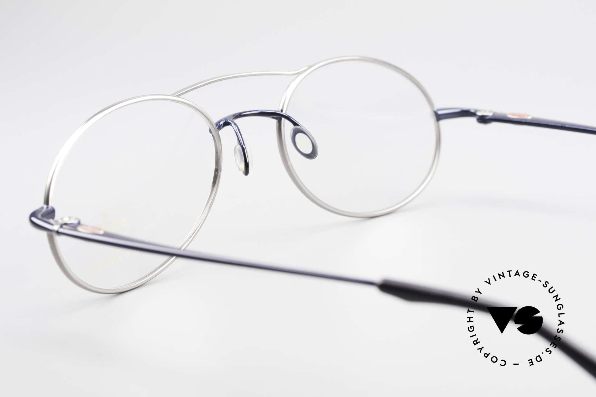 Bugatti 19239 Titanium Luxury Eyeglasses, NO RETRO; an old 90's original in deep-blue / titan, Made for Men