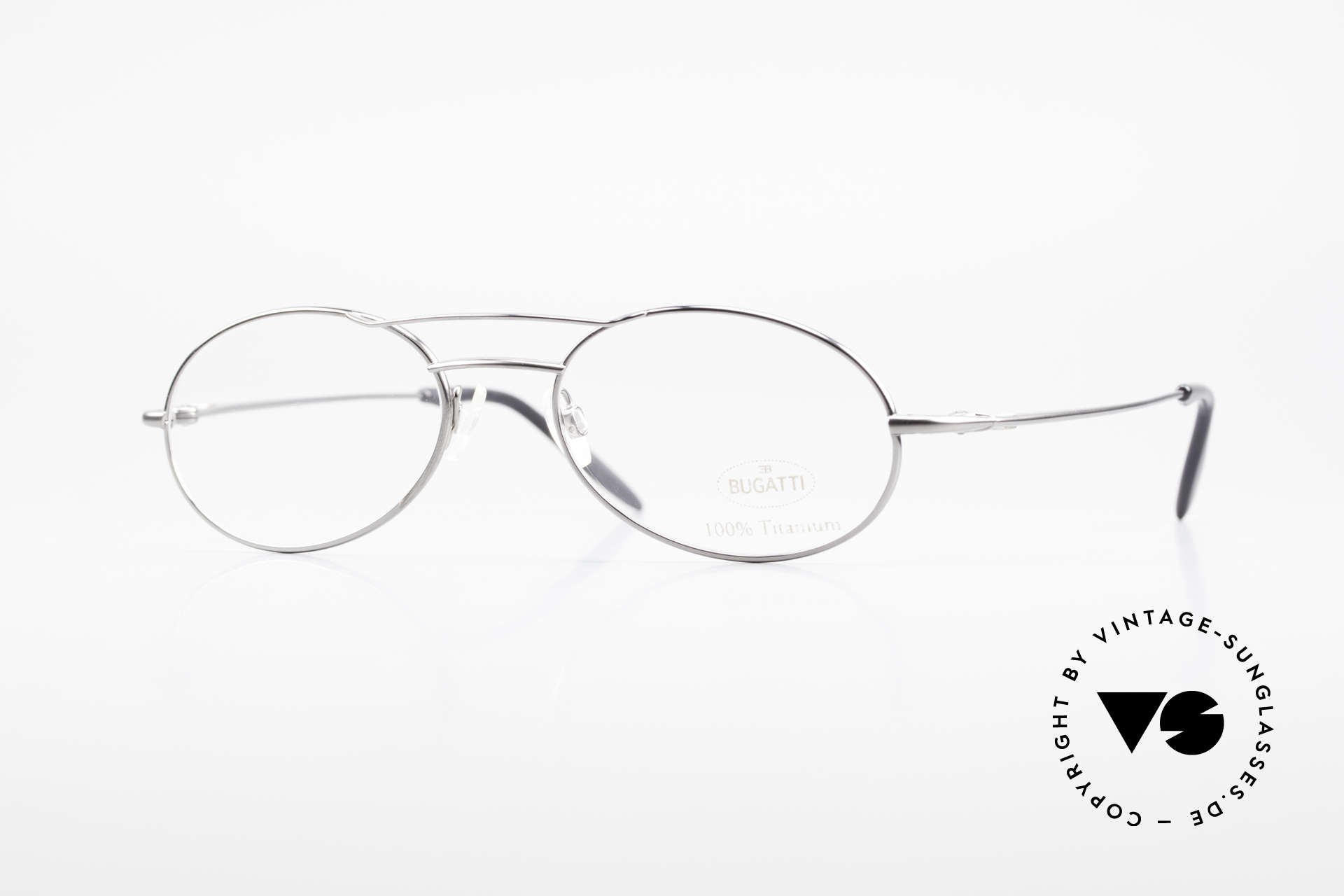 Bugatti 18861 Men's Titanium Eyeglasses, 100% Titanium vintage BUGATTI glasses from 1998, Made for Men