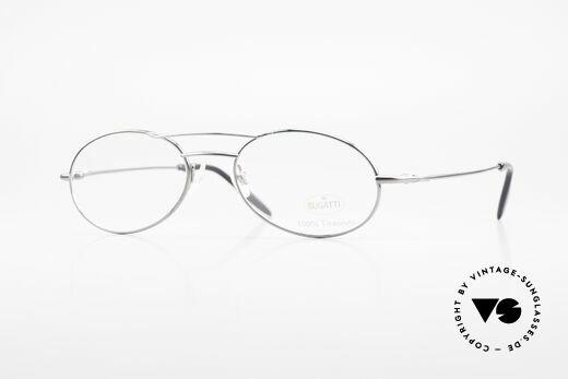 Bugatti 18861 Men's Titanium Eyeglasses Details