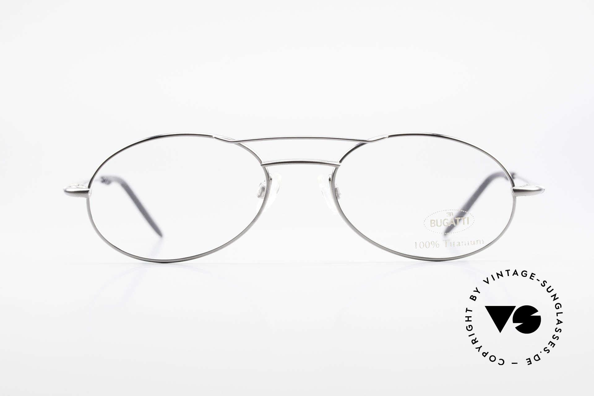Bugatti 18861 Men's Titanium Eyeglasses, outstanding craftsmanship (lightweight 15g frame), Made for Men