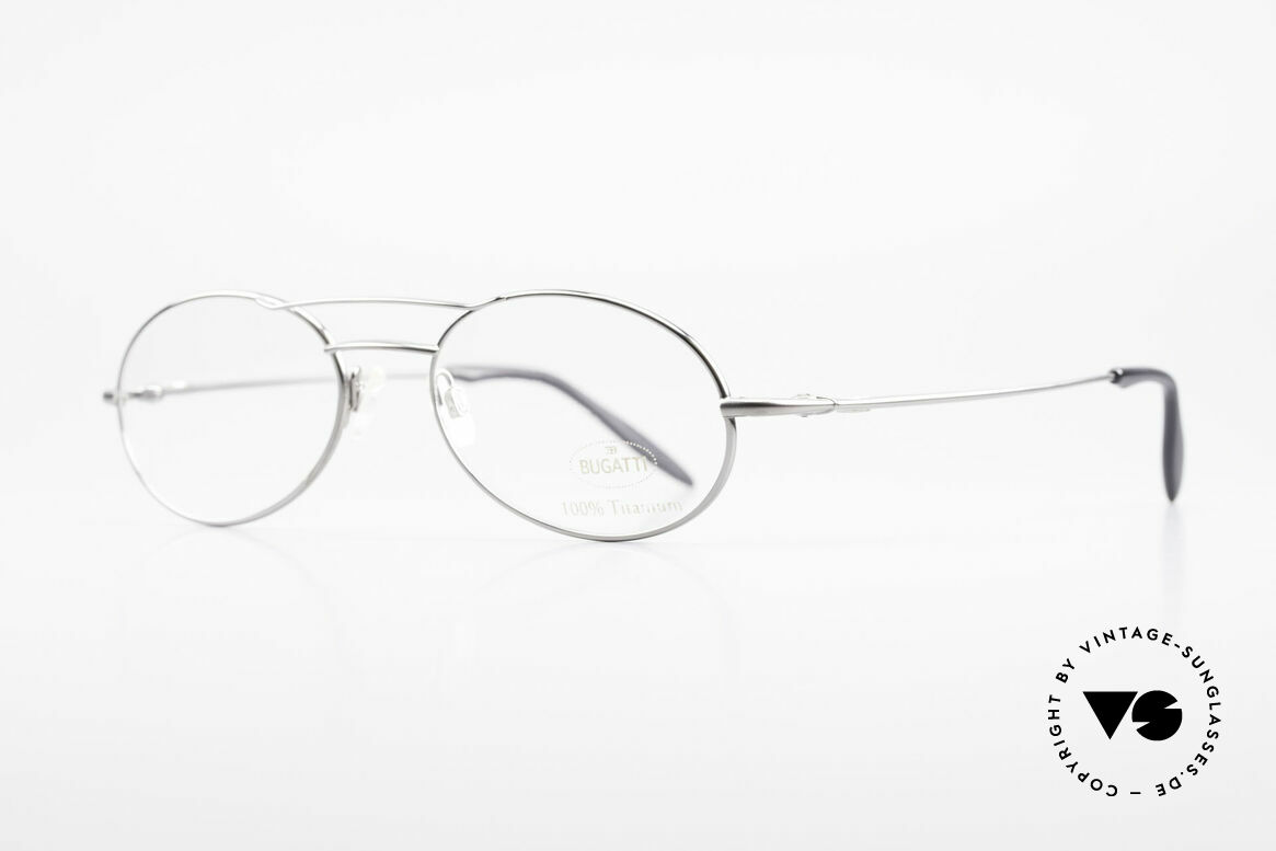 Bugatti 18861 Men's Titanium Eyeglasses, ergonomic temples for a 1st class wearing comfort, Made for Men