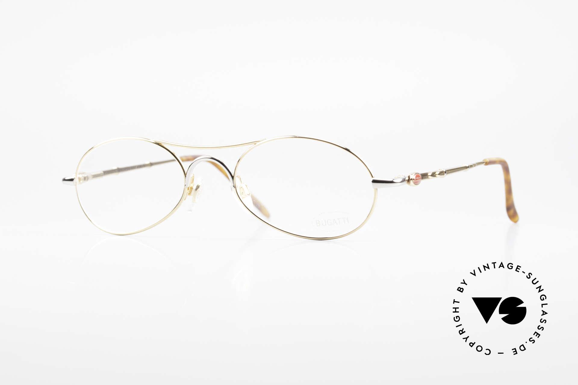 Bugatti 10608 90's Luxury Men's Eyeglasses, very elegant vintage designer eyeglasses by Bugatti, Made for Men