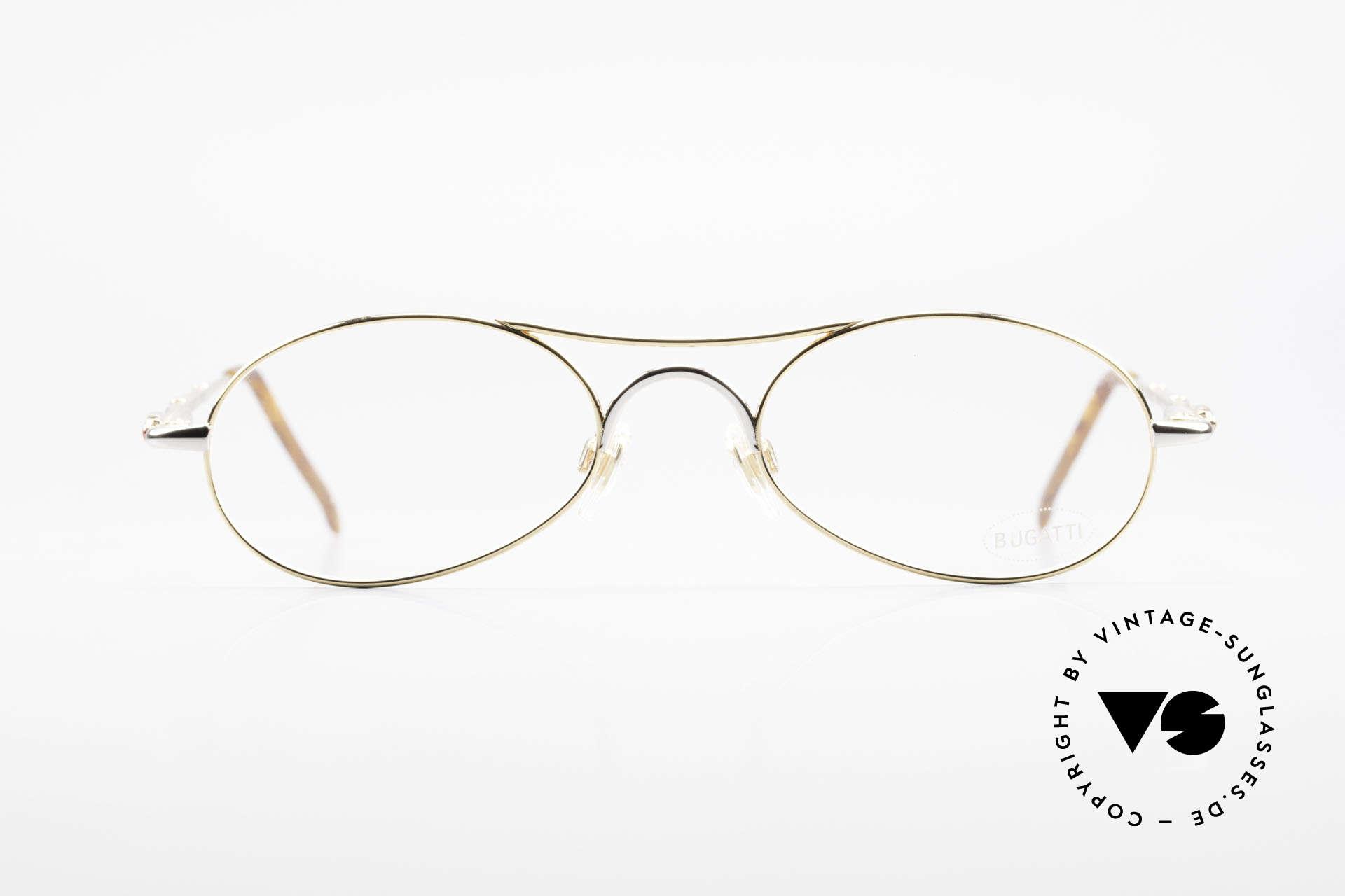 Bugatti 10608 90's Luxury Men's Eyeglasses, ergonomic frame design (1st class wearing comfort), Made for Men